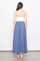 BRITTANY CROCHET LACE BRIDESMAID MAXI DRESS IN ASH BLUE