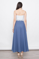 lace bridesmaid maxi dress in blue
