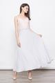 lace bridesmaid maxi dress in grey