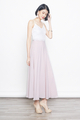 lace bridesmaid maxi dress in pink